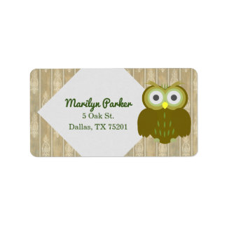 Brown Owl Customizable Address Labels