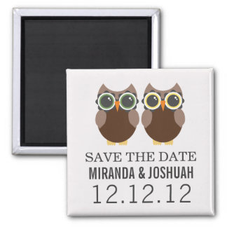 Brown Owl Design Save The Date Magnets