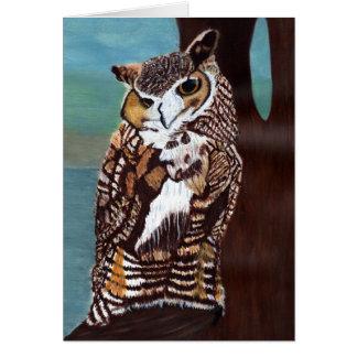Brown Owl Note Card