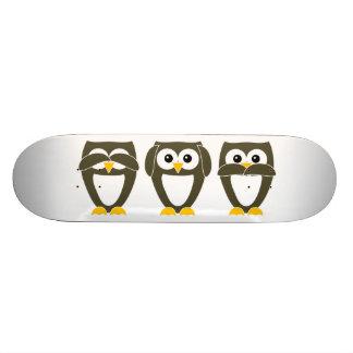 Brown Owl - See no evil, Hear no evil, Say no evil Skate Boards