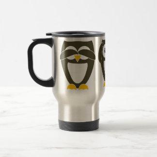 Brown Owl - See no evil, Hear no evil, Say no evil Travel Mug