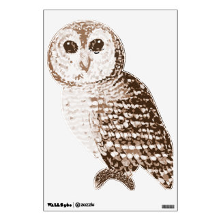 Brown Owl Wall Decal