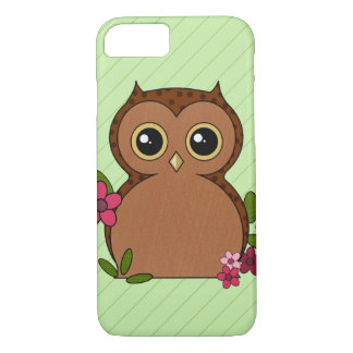 Brown Owl with Polkadots iPhone Case