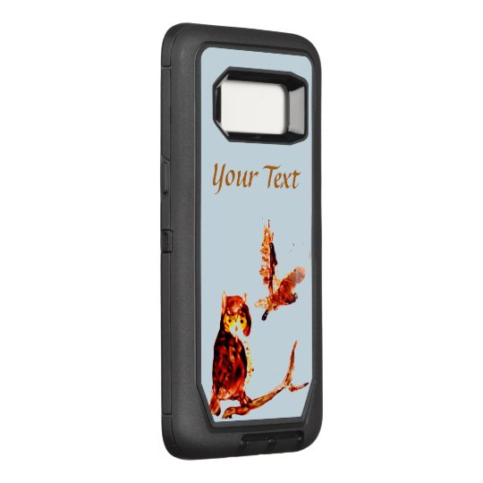 Brown Owls Bird Art OtterBox Defender Samsung Galaxy S8 Case