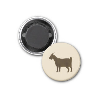 Brown Painted Farm Goat Magnet
