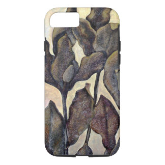 Brown Painted Leaves iPhone 7 Case