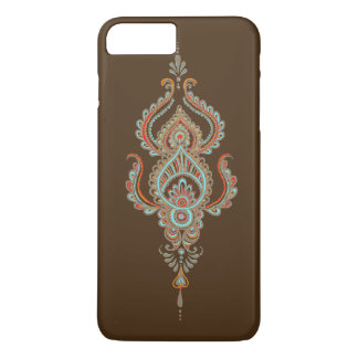 Brown paisley Barely there iPhone 7 plus case