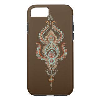 brown paisley Tough iPhone 7 Case