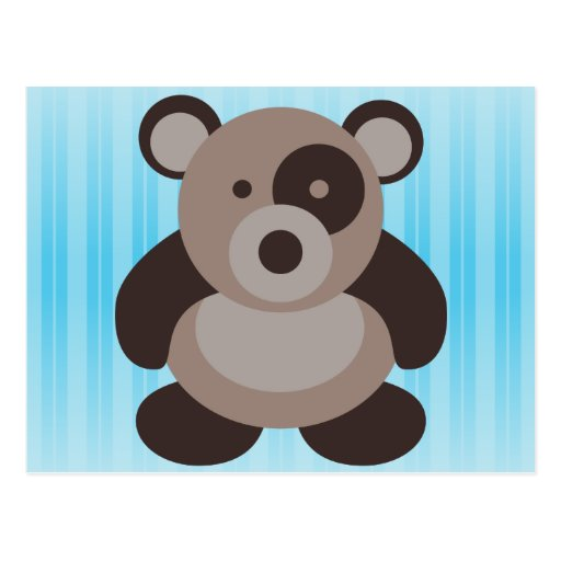 Brown Panda Bear Postcards