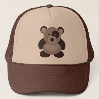 Brown Panda Bear Trucker Hat