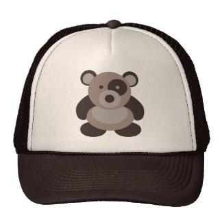 Brown Panda Bear Trucker Hat