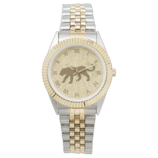 Brown Panther with Roman Numerals Watch