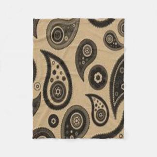 brown pasley custom fleece blanket