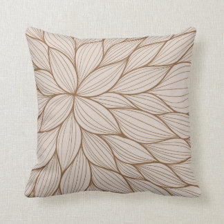 Brown Pastel Petal Watercolor Pillow