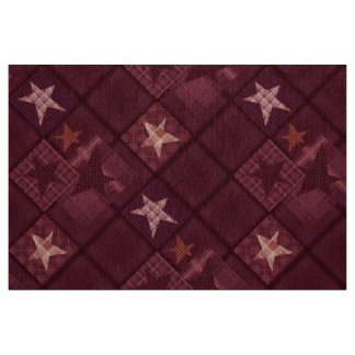Brown patchwork fabric
