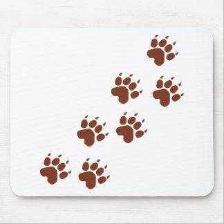 brown paws icon mouse pad