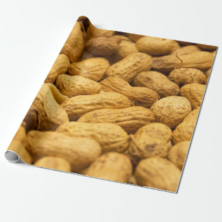 Brown peanut nut pattern wrapping paper