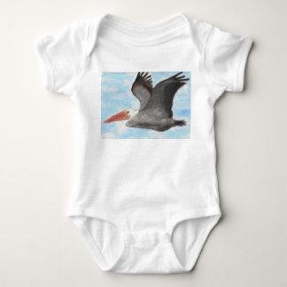 Brown Pelican Baby Shirt