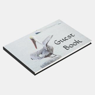 Brown Pelican Bird Harbor Wildlife Guest Book