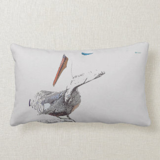 Brown Pelican Bird Harbor Wildlife Throw Pillow