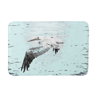 Brown Pelican Bird Wildlife Animal Beach Bath Mat