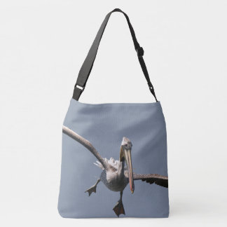 Brown Pelican Bird Wildlife Animal Flying Tote Bag