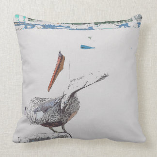 Brown Pelican Bird Wildlife Animal Throw Pillow