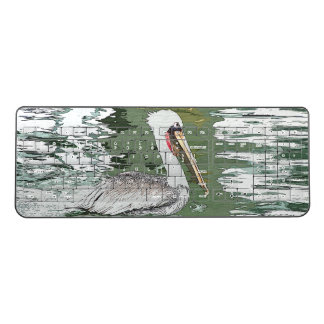 Brown Pelican Bird Wildlife Art Wireless Keyboard