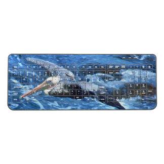 Brown Pelican Bird Wildlife Sea Wireless Keyboard