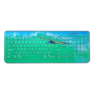Brown Pelican Bird Wildlife Wave Wireless Keyboard