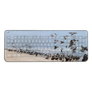 Brown Pelican Birds Beach Animal Wireless Keyboard