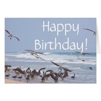 Brown Pelican Birds Wildlife Animal Beach Birthday Card