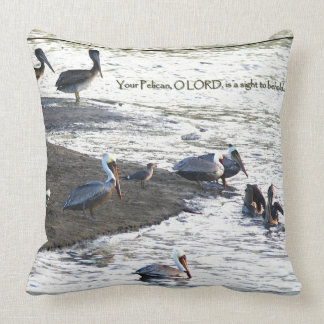 Brown Pelican Birds Wildlife Animal Throw Pillow