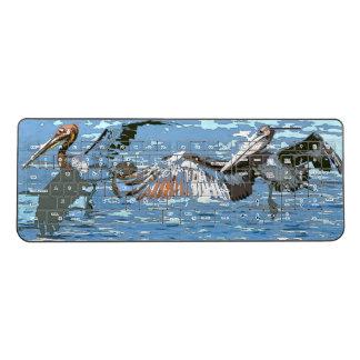 Brown Pelican Birds Wildlife Sea Wireless Keyboard