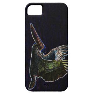 Brown Pelican in Neon iPhone 5 Cases
