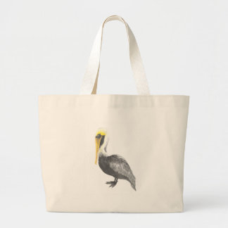 Brown Pelican Large Tote Bag