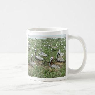 Brown Pelican Nesting Spot Classic White Coffee Mug