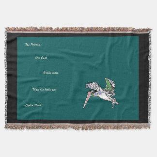 Brown Pelican Poem Throw Blanket
