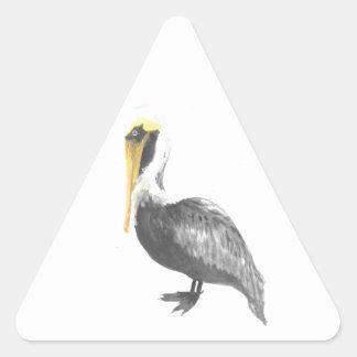 Brown Pelican Triangle Sticker