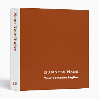 Brown - Personalized Office Binders