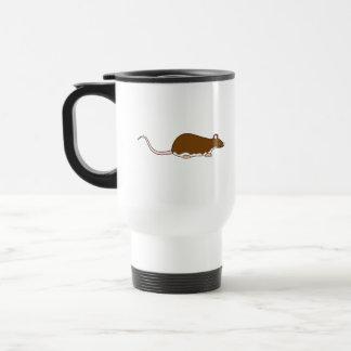 Brown Pet Rat. Berkshire, White Belly. Travel Mug