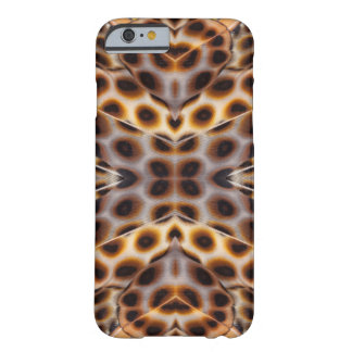 Brown pheasant feather kaleidoscope barely there iPhone 6 case
