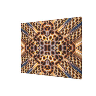 Brown pheasant feather kaleidoscope canvas print