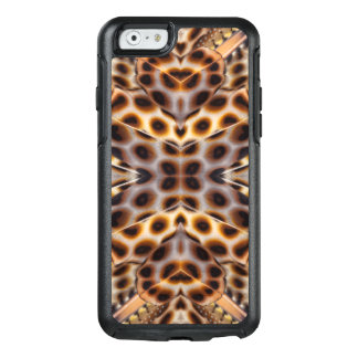 Brown pheasant feather kaleidoscope OtterBox iPhone 6/6s case