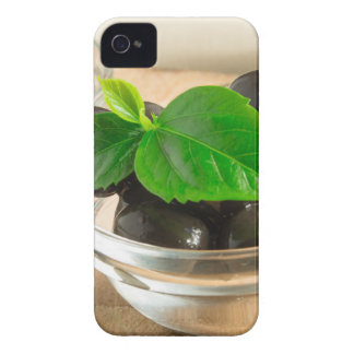 Brown pickled olives in a transparent cups iPhone 4 Case-Mate case