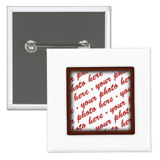 Brown Picture Frame for Any Occasion 2 Inch Square Button