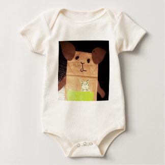 Brown piggy face baby bodysuit