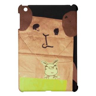 Brown piggy face case for the iPad mini