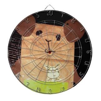 Brown piggy face dartboard