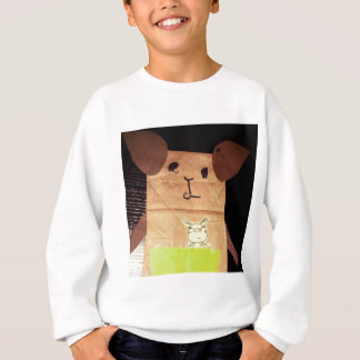 Brown piggy face sweatshirt